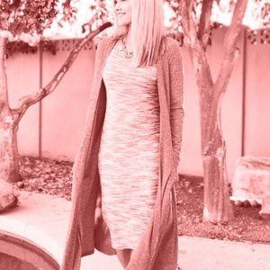 LULAROE Red Space-Dye Ribbed Julia Dress 3XL NEW